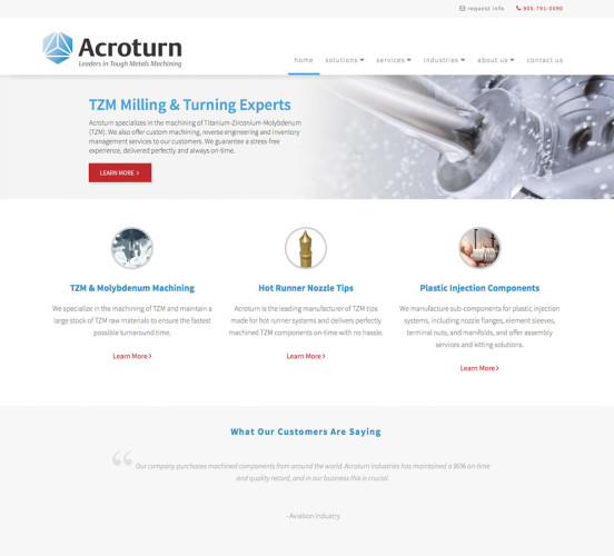 Acroturn New Home Page