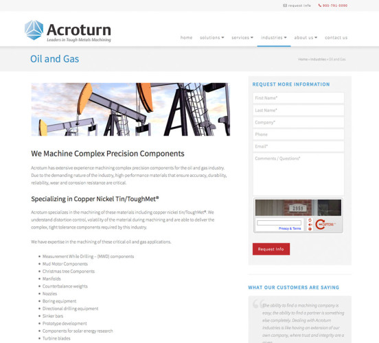 Acroturn New Oil / Gas Page