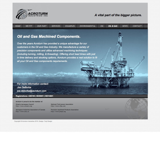 Acroturn Old Oil / Gas Page