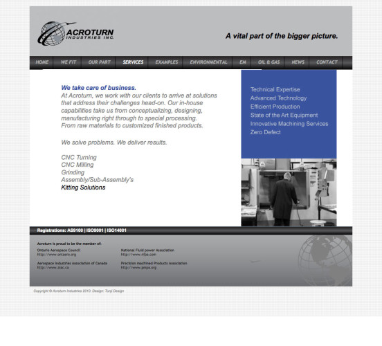 Acroturn Old Services Page