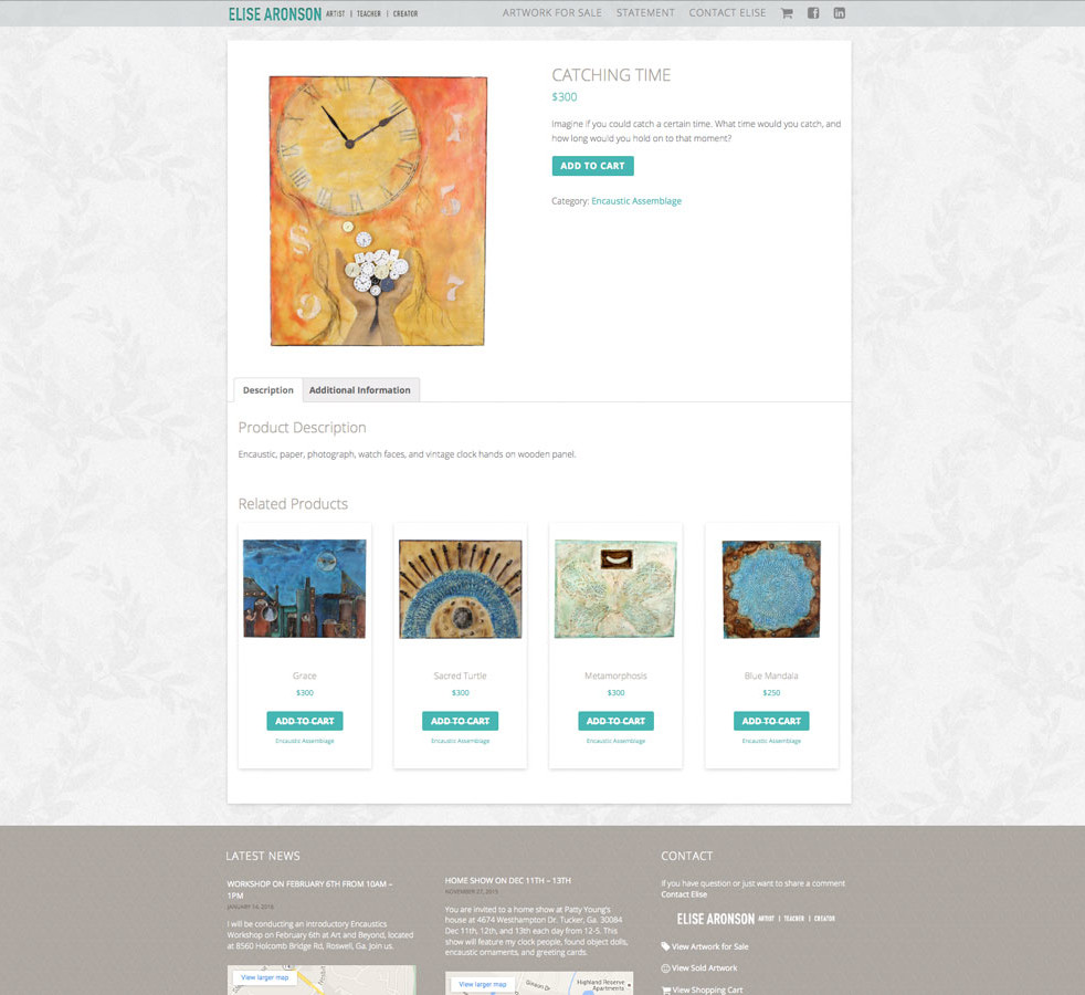 Artwork Details Page
