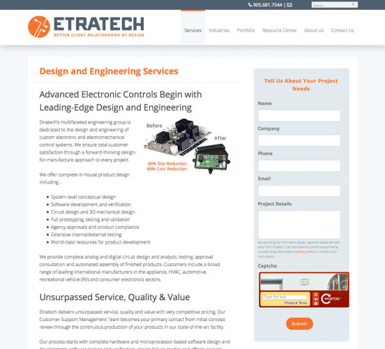Etratech New Design Engineering Page