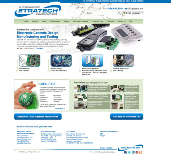 Etratech Old Home Page