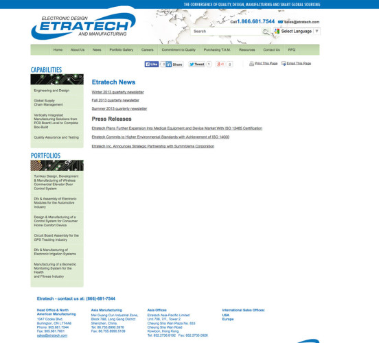 Etratech Old News Page