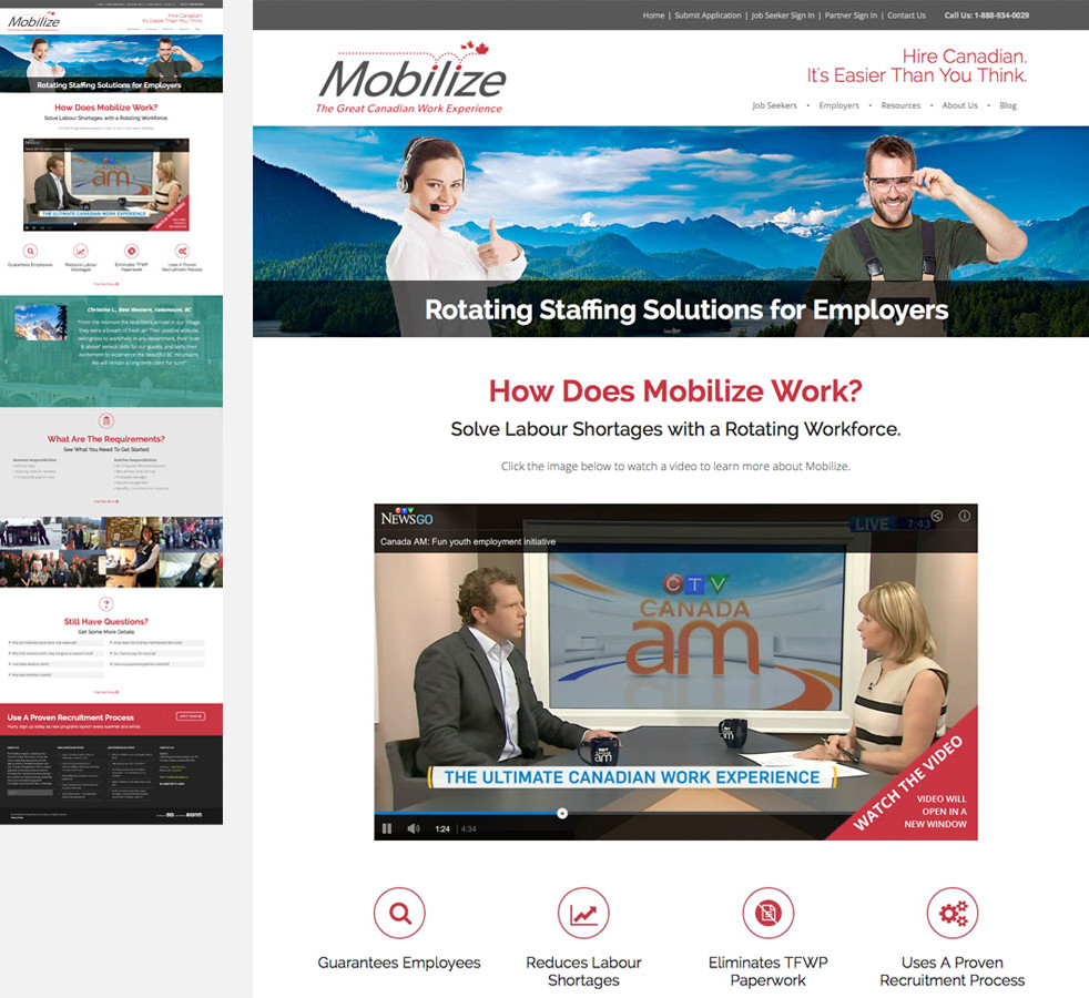 Mobilize Employers Page