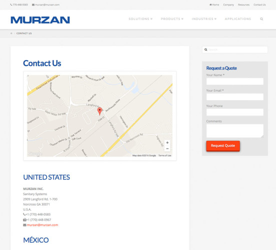 Murzan New Contact Page