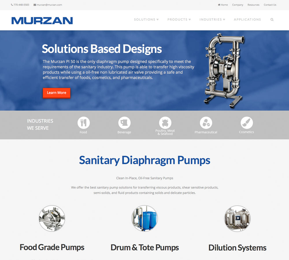 Murzan New Home Page Design