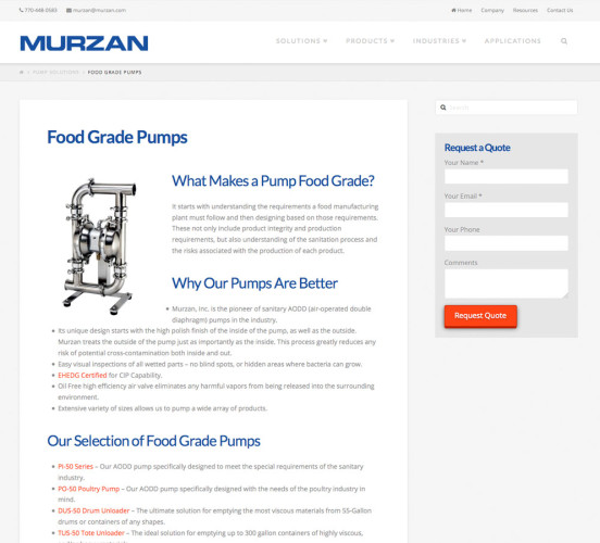 Murzan New Product Page