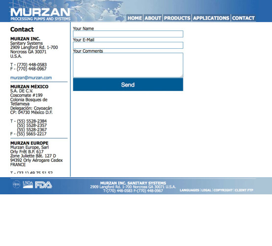 Murzan Old Contact Page