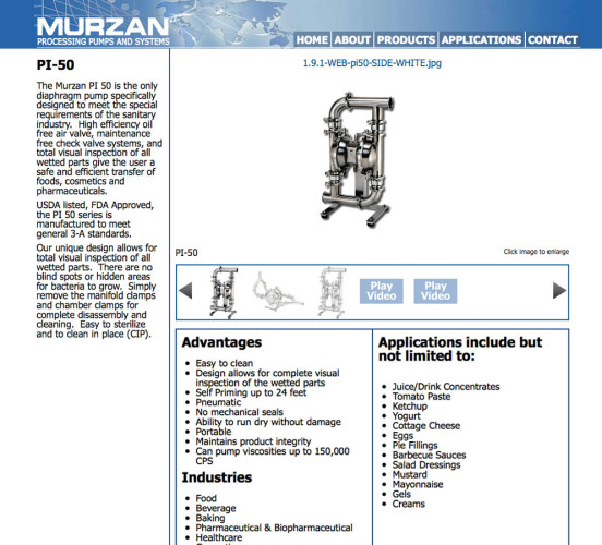 Murzan Old Product Page