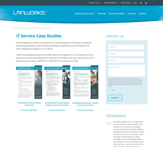 Lanworks New Case Studies Page