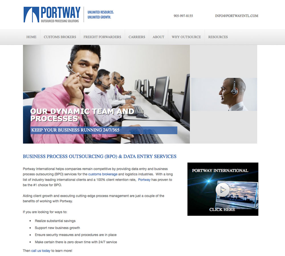 Portway Old Home Page
