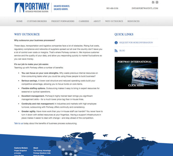 Portway Old Why Outsource Page
