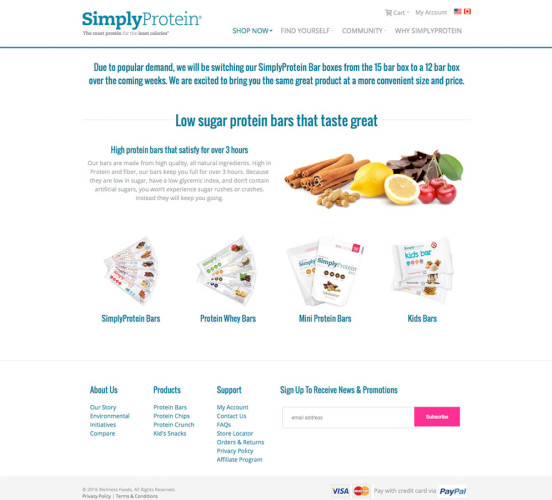 Simply Protein New Bars Page