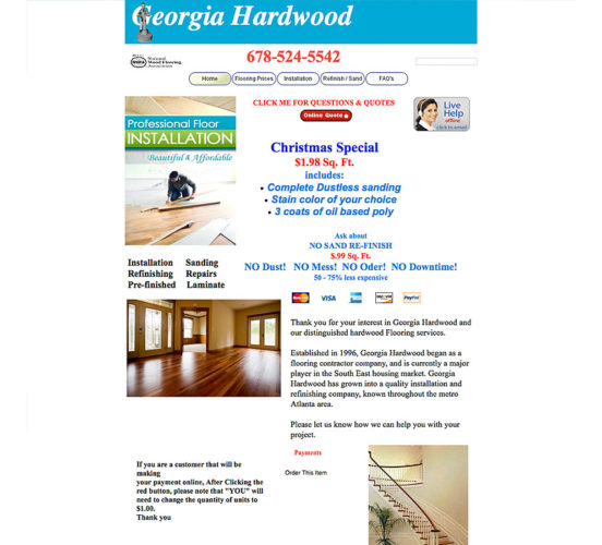 Georgia Hardwood Original Site