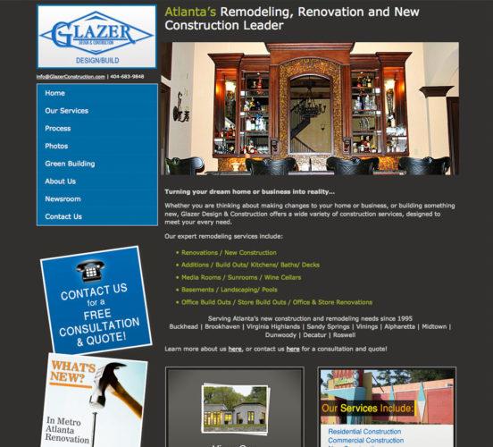 Glazer Construction Original Site