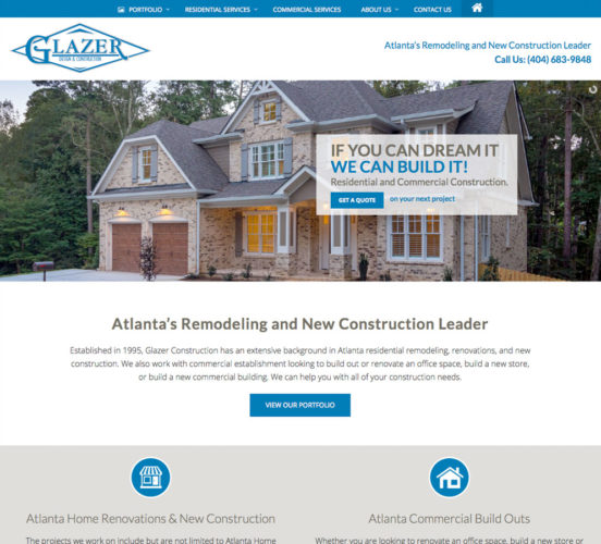 Glazer Construction Redesign