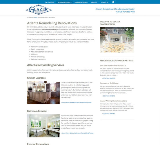 New Residential Services Page