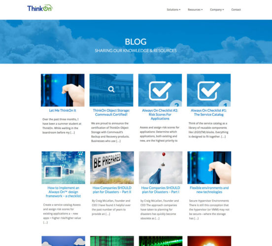 New ThinkOn Blog Page