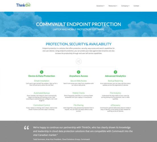 New ThinkOn Commvault Page