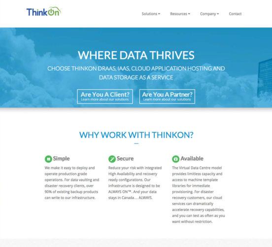 New ThinkOn Home Page