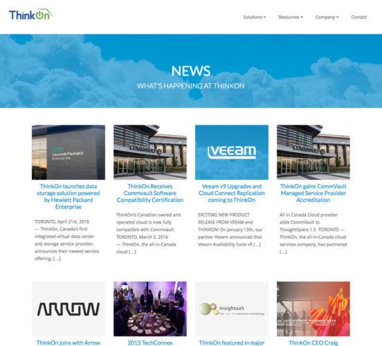 New ThinkOn News Page