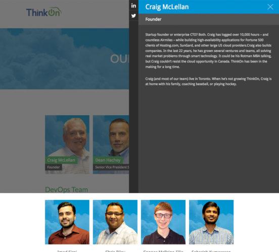 New ThinkOn Team Layout w Lightbox Feature