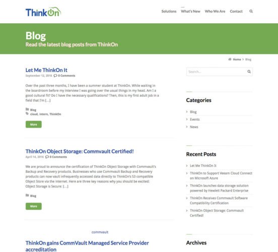 Old ThinkOn Blog Page