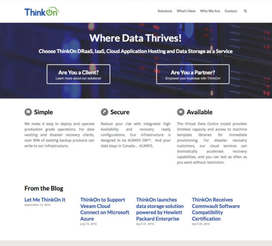 Old ThinkOn Home Page