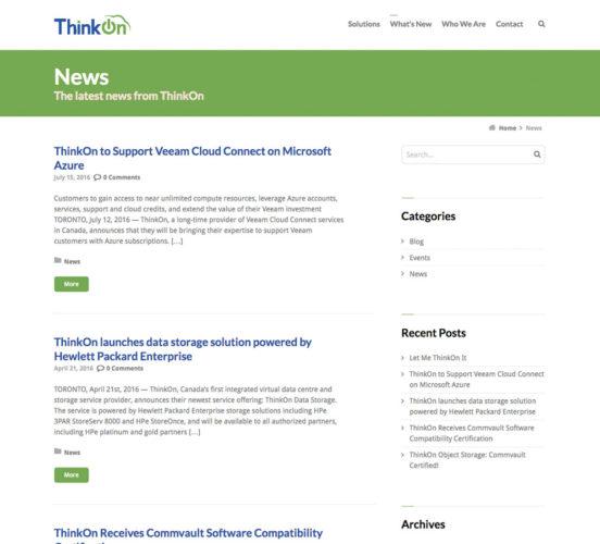 Old ThinkOn News Page