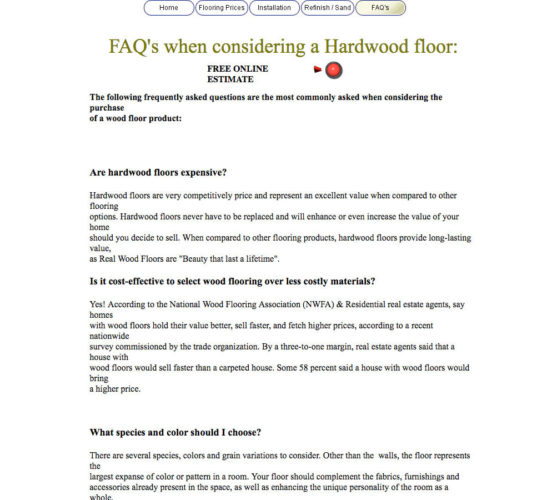 Old FAQ Page