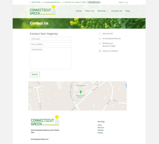 Connecticut Green Old Contact Page